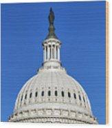 Us Capitol Building Dome Wood Print