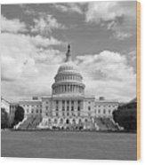 Us Capitol Building Washington Dc Wood Print