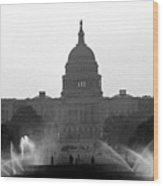 Us Capitol On Summer Morning Wood Print