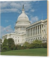 Us Capitol Washington Dc Wood Print