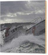 U.s. Coast Guard Motor Life Boat Brakes Wood Print by Stocktrek Images