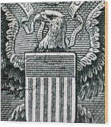 Us Dollar Eagle Wood Print
