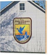 Us Fish And Wildlife Service Sign  3931 Wood Print