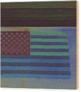 Us Flag On Wall Casa Grande Arizona 2004-2008 Wood Print