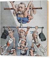 U.s. Grant Cartoon, 1880 Wood Print
