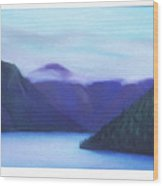 Us Hwy 101 Lake Crescent Washington Wood Print