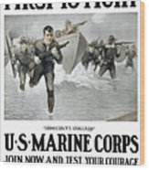 Us Marine Corps - First To Fight  Wood Print