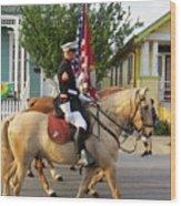 U.s. Marine Corps Krewe Of Proteus Mardi Gras 2017 Wood Print