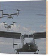 U.s. Marine Corps Mv-22 Osprey Wood Print