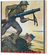 Us Marines - First In France Wood Print