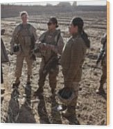 U.s. Marines In Afghanistan Assigned Wood Print by Everett