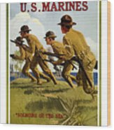 Us Marines - Soldiers Of The Sea Wood Print