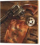 Us Marshal Laredo Wood Print