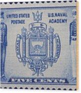Us Naval Academy Postage Stamp Wood Print