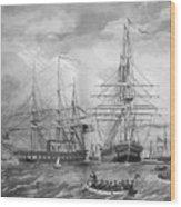 U.s. Naval Fleet During The Civil War Wood Print