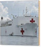 U.s. Naval Hospital Ship Usns Mercy Wood Print