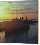 Us Naval Station Mayport Wood Print