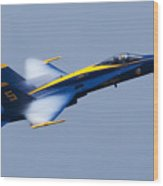 Us Navy Blue Angels High Speed Pass Wood Print
