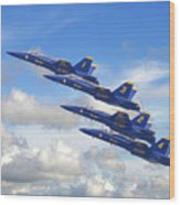 Us Navy - Blue Angels Wood Print