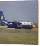 Us Navy Blue Angels Wood Print