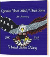 Us Navy Desert Storm Wood Print