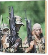 Us Navy Seals In Warfare Training Wood Print by Everett