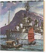 U.s. Navy Travel Poster Wood Print