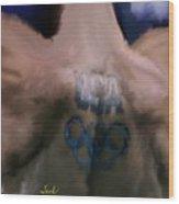 Us Olympian Tattoo Wood Print