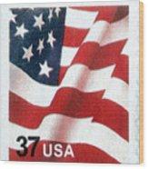 U.s. Postage Stamp, 2003 Wood Print