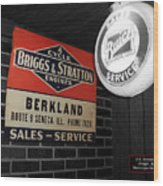 Us Route 66 Briggs And Stratton Signage Sc Wood Print
