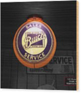 Us Route 66 Buick Sales Globe 02 Sc Wood Print