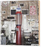 Us Route 66 Smaterjax Dwight Il Gas Pump 01 Pa 01 Wood Print
