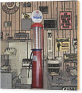 Us Route 66 Smaterjax Dwight Il Gas Pump 01 Pa 02 Wood Print