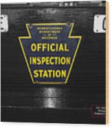 Us Route 66 Smaterjax Dwight Il Official Inspection Signage Wood Print