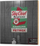 Us Route 66 Smaterjax Dwight Il Sky Chief Supreme Signage Wood Print