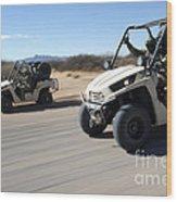 U.s. Soldiers Drive Multiple Ltatvs Wood Print