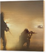 U.s. Special Forces Provide Security Wood Print