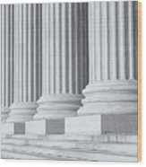 Us Supreme Court Building Iv Wood Print by Clarence Holmes