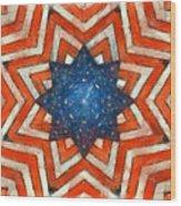 Usa Abstract Wood Print