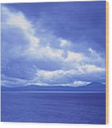 Usa, California, Lake Tahoe, Storm Wood Print
