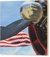 Usa Flag Bomber Wwii  Wood Print