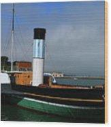 Usa Paddle Steamer Eppleton Hall Newcastle Wood Print