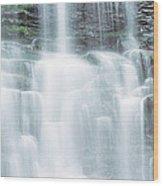 Usa, Pennsylvania, Ganoga Falls Wood Print