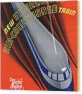Usa The Comet Vintage Travel Poster Restored Wood Print