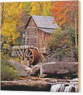 Usa, West Virginia, Glade Creek Grist Wood Print