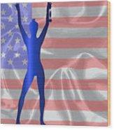 Usa Winner Background Wood Print