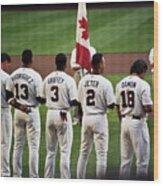 Usa-world Baseball Classic Wood Print