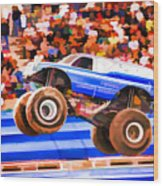 Usaf Afterburner Monster Jam Wood Print