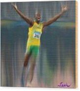 Usain Bolt 2008 Wood Print