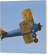 U.s.army Biplane Wood Print